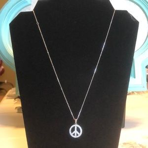 Mantra Band necklace w/ peace pendant